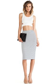 LOVERS + FRIENDS - DAY TO NIGHT SKIRT - STRIPE — Hollywood & Vine