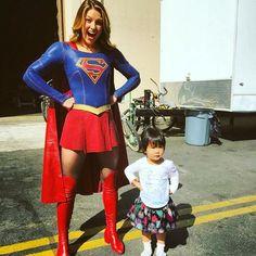 "mehcadbrooks on Instagram: ""Supergirls unite! It's Kara and Zara. #supergirl @supergirlofficial @perfectevents"""