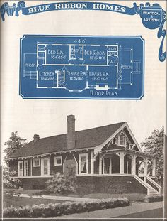1921 Blue Ribbon Craftsman-style Bungalow by American Vintage Home, via Flickr