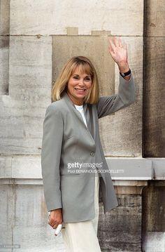 Wedding of Michel Sardou with Anne-Marie Perier in Paris, France on October 11, 1999 - Mireille Darc.