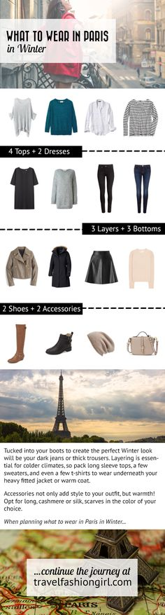 Wondering what to wear in Paris? This packing list will help you plan for your dream trip. Layering and stylish accessories are the key! Learn more at travelfashiongirl.com
