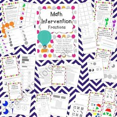 Math Intervention: Fractions product from The-Science-Penguin on TeachersNotebook.com