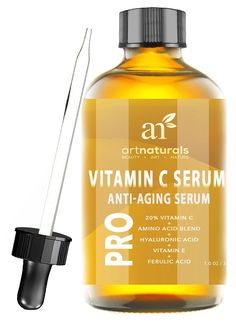 ArtNaturals Enhanced Vitamin C Serum with Hyaluronic Acid 1 Oz