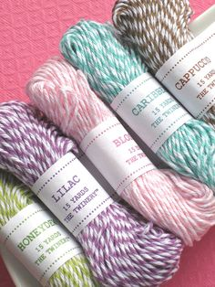 baker's twine in various colours