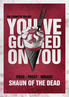Nice alternative poster for Shaun of the Dead. Still the best comedy about love and zombies. Simon Pegg, Zombie Movies, Thing 1, Horror Posters, Pop Culture Art, We Movie, Alternative Movie Posters, Good Movies, Awesome Movies