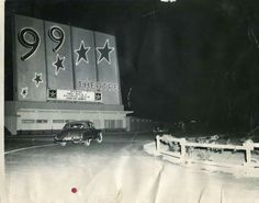 99 Drive In Theatre in Bakersfield, California, right next to Hwy. 99 back then.