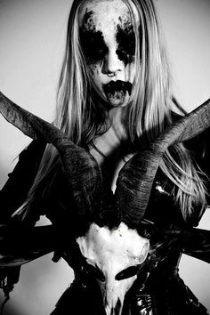 one of the best black metal girl pics ive seen. bonus for being blonde.