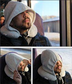 Almohada de viaje con capucha, para viajar aislado