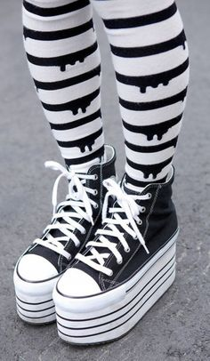 Pants: tight pastel goth cute kawaii converse platform shoes = halloween?
