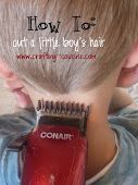 Crafty Cousins: How To: Cut a Little Boy's Hair