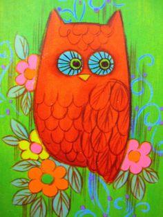 'Vintage Owl' by Yvette Gysen-Newman  (photo taken from a swap card)