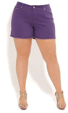 4d5ec3daec895 City Chic FRAYED COLOUR SHORT SHORT -Women s Plus Size Fashion