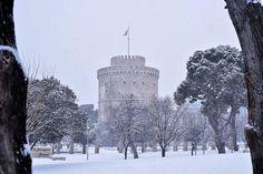 Thessaloniki in White Greek Beauty, Crete Greece, Thessaloniki, Macedonia, Winter Holidays, Natural Beauty, Around The Worlds, Travel, Outdoor