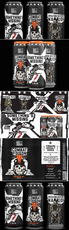 This Beer Can Packaging is Bringing The Rock N' Roll Flavor | Dieline
