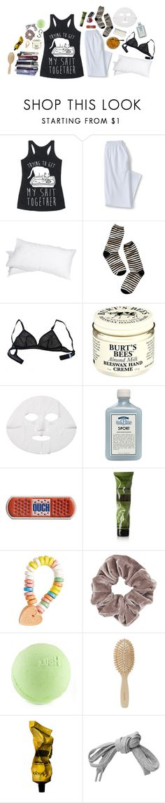 """""""I'll tear you apart I'll feed off your heart I wanna see your bodies grinding just for me I'm just what you need, the perfect disease Don't you wanna turn the beauty into the beast?.."""" by queen-of-music ❤ liked on Polyvore featuring Lands' End, Grand Down, Madewell, Eres, Burt's Bees, John Allan's, Anya Hindmarch, Aesop, Topshop and Meraki"""