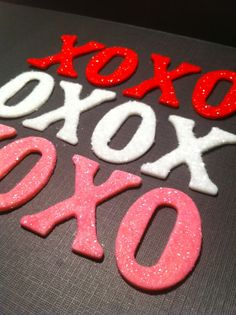 edible glittered decorations