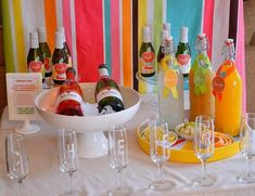 Barra de bebidas para bodas