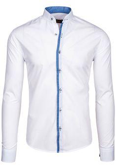 Koszula męska BOLF 5748 biała African Attire For Men, African Clothing For Men, African Shirts, Nigerian Men Fashion, African Men Fashion, Latest Kurta Designs, Gents Shirts, Mens Shirt Pattern, Moda Peru