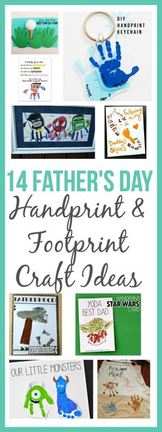 Looking for something cute and budget friendly to make for dad for Father's Day? Check out these Father's Day Handprint and Footprint Craft Ideas.