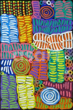 Awelye #1, by Australian artist Betty Mbitjana