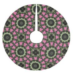 Floral mandala-style christmas 2.8 brushed polyester tree skirt - flowers floral flower design unique style