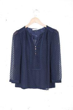 swiss dot blouse | Found on parcboutique.com
