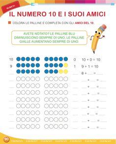 Matita e gomma 1 - Matematica First Grade, Preschool, Map, Words, Aurora, Autism, Book, Kid Garden, Location Map
