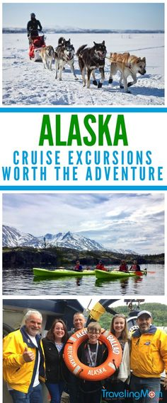 Alaska Cruise Excursions | What has dogs, king crab, and kayaks? Only the best Alaska excursions that can be found on an Alaskan cruise! We break down the best shore excursions from Skagway, Juneau, and Ketchikan along with a few honorable mentions. #Alaska #excursions #alaskacruise