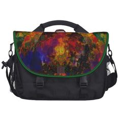 Sterio Trippin Psychedelic Abstract Commuter Bags from Zazzle.com
