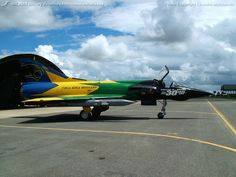 Brazilian Air Force (FAB) Dassault Mirage III (F-103).Special 30th anniversary scheme. I believe this aircraft has been retired from fleet now, but found conflicting info on different sites.