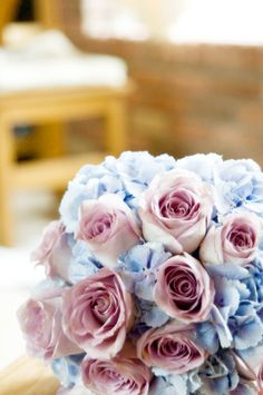 Brides Bouquet - Pastel blue and pink! Pink roses and baby blue hydrangeas. Posey bouquet inspiration for your wedding Dream Wedding, Wedding Day, Wedding Dreams, Wedding Bells, Wedding Stuff, Sleeping Beauty Wedding, Wedding Reception Lighting, Wedding Nails For Bride, Wedding Venues Texas