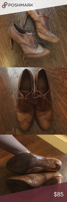 Cole Haan with Nike Air soles brown heeled oxfords Size 9, used, but too small for me - I'm a 9.5 typically! Cole Haan Shoes Ankle Boots & Booties