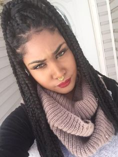 Box braids hairstyles are one of the most popular African American protective styling choices. Summer lifts the percentage significantly with activities. Bob Box Braids Styles, Box Braids Styling, Braid Styles, Curly Hair Styles, Natural Hair Styles, Twist Styles, Marley Twists, Marley Braids, Box Braids Hairstyles For Black Women