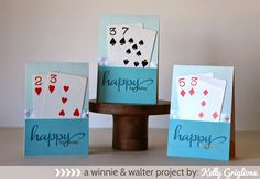 Hi folks! Kelly here to share a project I made for a recent card exchange. About 20 crafty friends got together, made 20 of the same card...