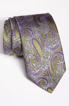Ermenegildo Zegna Woven Silk Tie - Great color combo!
