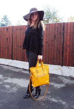 Yellow Leather Tote Bag, Shoulder Bag, Messenger Bag, Shopping Bag, Carryall Bag  - Extra Large Handbag