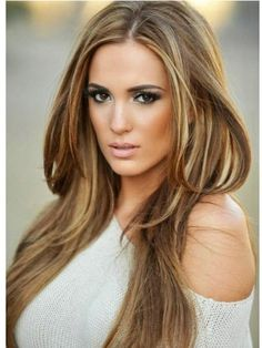 caramel hair color ideas with blonde highlights