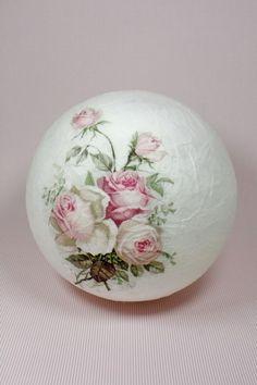 """Tischlampen - Leuchtkugel """" Rosen Vintage Design  """"  - ein Designerstück von Creativablue bei DaWanda"""