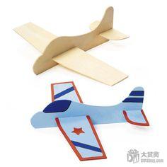 Cheap Envío gratis 12 unids/lote madera DIY juguetes avión para los niños, divertido juguetes dibujo para regalo de cumpleaños, Compro Calidad Vehículos de Juguete directamente de los surtidores de China:   Hágalo usted mismo Flyers Jets.  Aquí está un proyecto divertido para los niños a hacer!  Diseño de un avión de sus su