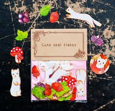 www.novamelina.com - All things pretty! INTERNATIONAL SHIPPING!  #cute #stickers #animals #forest #creatures #forkids #forchildren #girls #kawaii #japanese #beautiful #pretty #golden #shop #novamelina #pen #pencil #neon #flowers #weasel #acorn #mushroom #berries