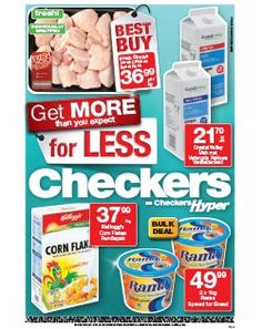 Checkers - Better and Better Wines, Cool Things To Buy, Wellness, Food, Gourmet, Cool Stuff To Buy, Eten, Meals, Diet