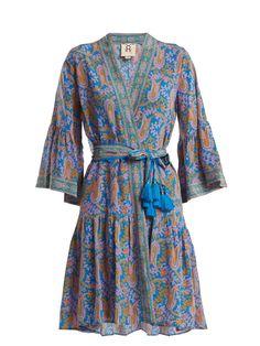 Caroline paisley-print silk wrap dress | Figue | MATCHESFASHION.COM US