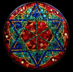 David Chidgey - Art Glass Mosaics - Kaleidoscope - Blessing - Sold