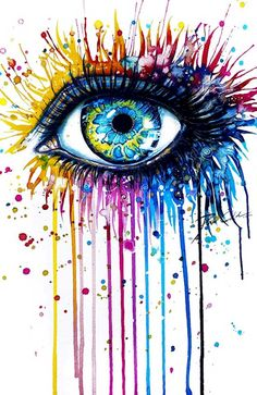 30 Expressive Drawings of Eyes Svenja Jödicke – Mind blowing eye art by the German artist with different mediums such as watercolor, acrylics, etc. Arte Pop, Painting & Drawing, Watercolor Paintings, Easy Paintings, Watercolor Eyes, Colorful Paintings, Colourful Art, Watercolors, Acrylic Paintings