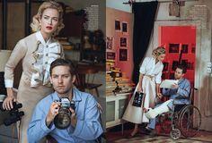 Window Dressing, Peter Lindbergh   Tobey Maguire, Carolyn Murphy, American Vogue 2013   Grace Coddington, Didier Malige, Stéphane Marais   New York