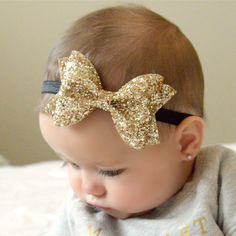 Hey, I found this really awesome Etsy listing at https://www.etsy.com/listing/249986403/gold-glitter-bow-3-sizes-headband-or