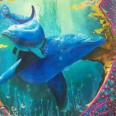 Zagaceta | Art de l'Amazonie Sea Life Art, Visionary Art, Psychedelic, Whale, Animals, Painting, Decor, Whales, Animales