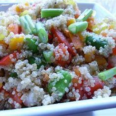 Quinoa-Salat mit rohem Gemüse @ de.allrecipes.com