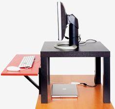 Get a Standing Desk | IKEA hack for a DIY standing desk.
