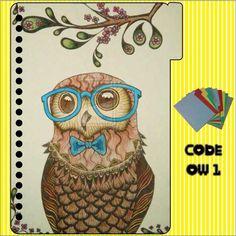 cute owl design book #binder #bookdesign #design #cuteowl #owl #cartoonowl #surabaya #burunghantu #kuliah #course #pembatasbuku #binderlucu